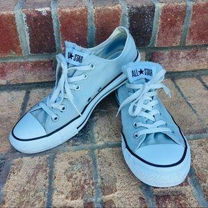Converse Light Gray Low Top Shoes M8 W10 Unisex